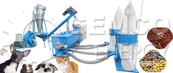 pet feed pellet machinery factory