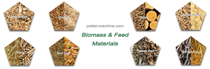 raw materials can be processed into pellet