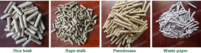 rice husk rape stalk pseudosasa waste paper pellets