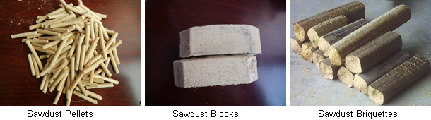 sawdust pellets and briquettes